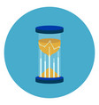sand watch icon web button on round blue vector image