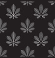 seamless pattern chestnut leaves white vector image