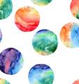 seamless pattern watercolor circles vector image