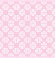 seamless pattern with white polka dots on a pink vector image vector image