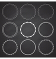 Set of 9 circle design frames vector image vector image