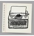 sketchy a typewriter machine vector image