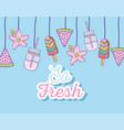 so fresh cute cartoons vector image vector image