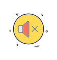 sound volume off icon design vector image