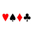 suit playing cards vector image vector image
