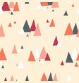 triangle mountains seamless pattern vector image