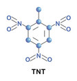 trinitrotoluene is a chemical compound vector image vector image