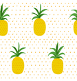 Tropical Pattern Pineapples Retro Background vector image vector image