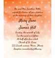 Wedding Invitation with watercolor background vector image vector image