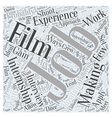 What About Internships In Film Making Word Cloud vector image vector image