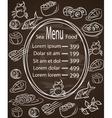 Restaurant cafe menu vintage typographical vector image