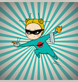 super hero chef of japanese cuisine vector image