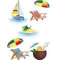 bright recreation set vector image