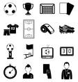 soccer football icons set vector image