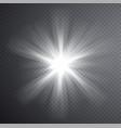 white light beam transparent light effect vector image