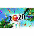 2020 new year background vector image vector image