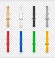 3d realistic clothes pin icon set closeup vector image