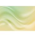 Abstract green and yellow wavy shiny vector image vector image