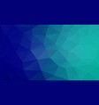 abstract irregular polygonal background cyan blue vector image vector image