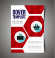 abstract report cover5 vector image vector image