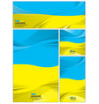 abstract ukraine flag background vector image