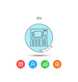 atm icon automatic cash withdrawal sign vector image vector image