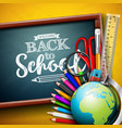 back to school design with globe magnifying glass vector image vector image