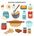 baking ingredients food and cooking kitchen items vector image vector image