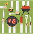 barbecue and grill modern design flat with vector image