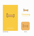 bed company logo app icon and splash page design