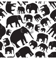 black elephants seamless pattern eps10 vector image vector image