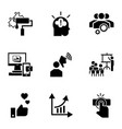 brand teamwork icon set simple style vector image vector image
