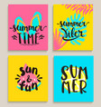 bright summer cards vector image vector image