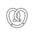 bun line icon concept bun linear vector image vector image