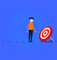businessman aiming the target vector image vector image