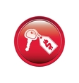 button with Price tag icon dollar and keys vector image