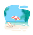 cartoon beach travel resort background card vector image vector image