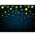 Cartoon star colored background vector image vector image