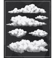 chalkboard vintage clouds background vector image vector image