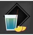 cocktail drink glass image vector image