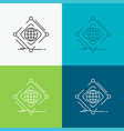 complex global internet net web icon over various vector image
