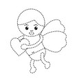 cupid holding heart love romantic image vector image vector image