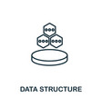 data structure icon thin outline style design vector image vector image