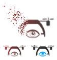 dispersed pixel halftone video spy drone icon vector image vector image