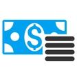 Dollar Cash Flat Icon vector image vector image