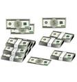 dollars banknote set american money vector image