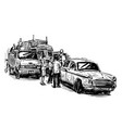 drawing taxi in india vector image vector image
