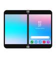 dual screen folding phone gadget smartphone vector image vector image