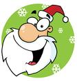 Face Santa Claus vector image vector image