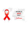 for world aids day vector image vector image